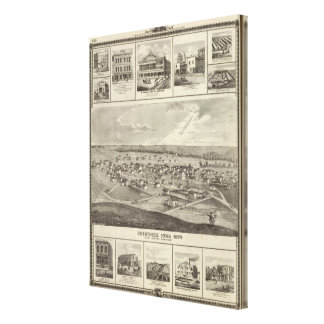 Cherokee, Iowa, 1875 businesses in Centerville Canvas Print