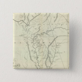 Cherokee Map 15 Cm Square Badge