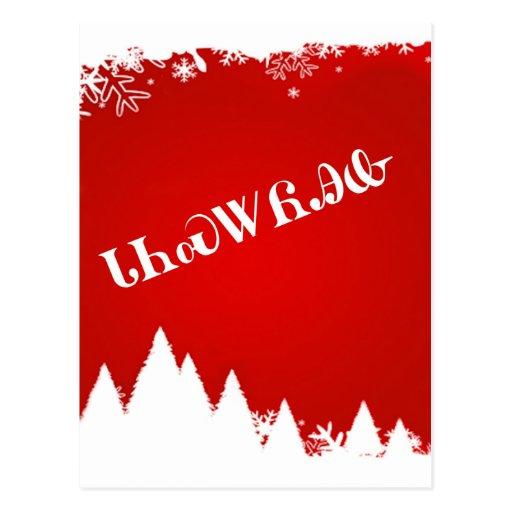 Cherokee Merry Christmas Postcard
