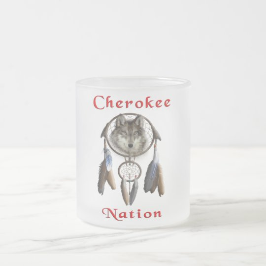 Cherokee Nation t-shirt Frosted Glass Coffee Mug