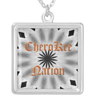 Cherokee Nations Silver Plated Necklace