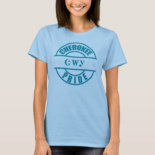 Cherokee Pride in Teal T-Shirt