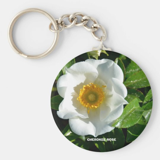 CHEROKEE ROSE BASIC ROUND BUTTON KEY RING