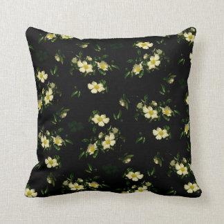Cherokee White Roses Throw Pillow