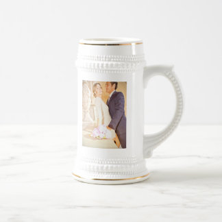 Cherri & Luis wedding stein mug