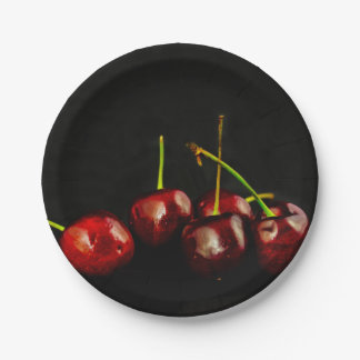 CHerries 7 Inch Paper Plate