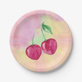 Cherries 7 Inch Paper Plate