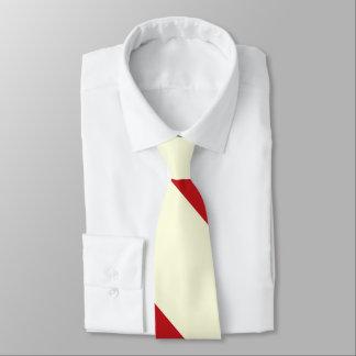 Cherries and Cream Broad University Stripe Tie