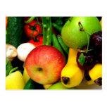 Cherries Bananas And Apples Postcard