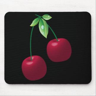 Cherries Black Mousepad