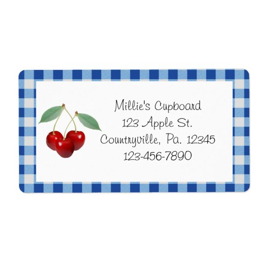 Cherries Business Label Product Label