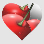 Cherries Close Up with Dew Sticker