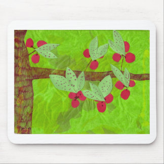 cherries design, asian influence mouse pad