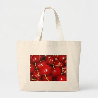Cherries Design Canvas Bags