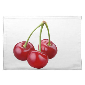 """Cherries"" design placemats"