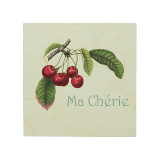 Cherries for your Sweetheart - Wooden Wall Art Wood Prints