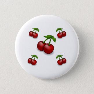 Cherries Galore Design 6 Cm Round Badge