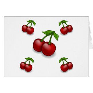 Cherries Galore Design Greeting Card