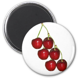 Cherries 6 Cm Round Magnet