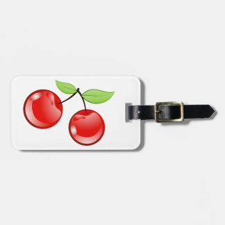Cherries of cherries luggage tag