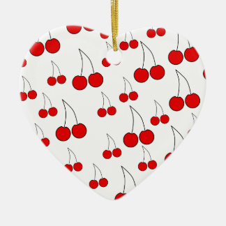 Cherries Pattern. Christmas Ornament