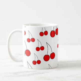Cherries Pattern. Coffee Mug