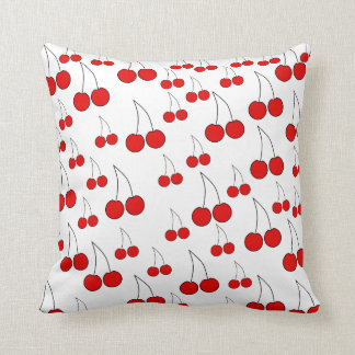Cherries Pattern. Cushion