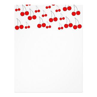 Cherries Pattern. Flyer Design