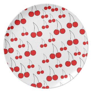 Cherries Pattern. Plate