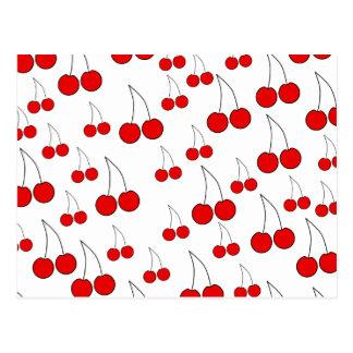 Cherries Pattern Post Cards