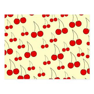 Cherries Pattern. Postcard