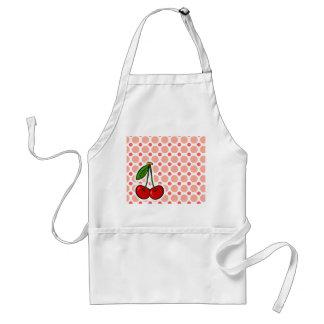 Cherries; Pink & Coral Polka Dots Standard Apron