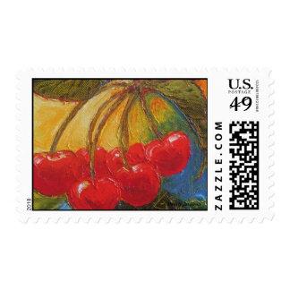 Cherries Postage Stamp