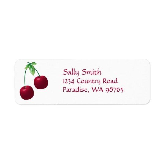 Cherries Return Address Label
