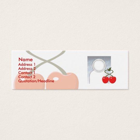 Cherries - Skinny Mini Business Card