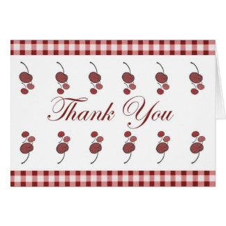 Cherries Thank You Card (Large Print)
