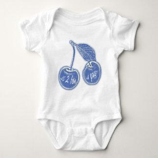 cherries vintage bleues.png baby bodysuit