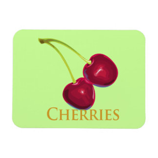 Cherries with Stems Magnet