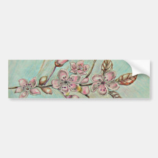 cherrry blossoms bumper sticker