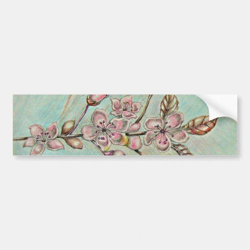 cherrry blossoms bumper stickers