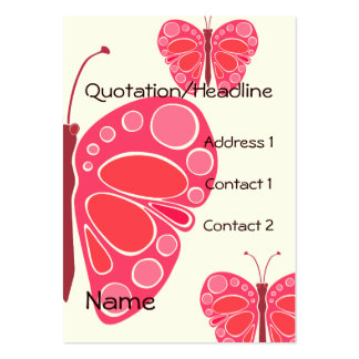 Cherry 60s Whimsical Butterfies Pack Of Chubby Business Cards
