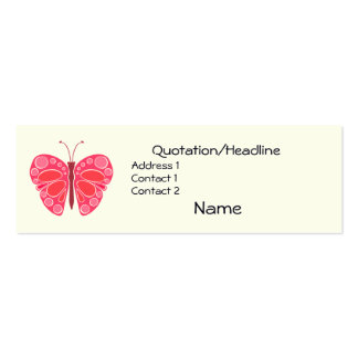 Cherry 60s Whimsical Butterfly Pack Of Skinny Business Cards