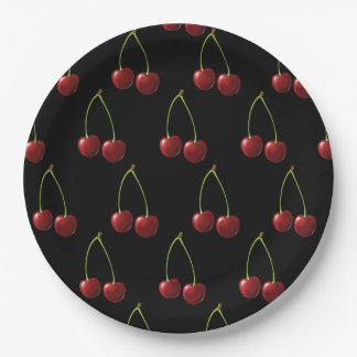 Cherry 9 Inch Paper Plate