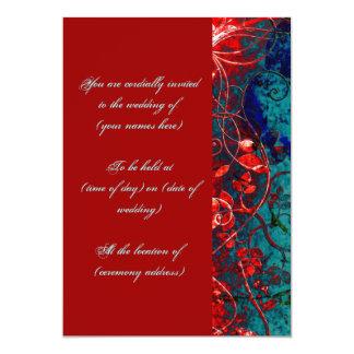 Cherry and Aqua 13 Cm X 18 Cm Invitation Card