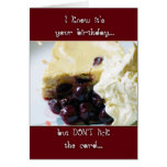 Cherry And Kirsch Cheesecake Birthday Card - Humou
