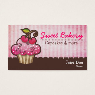 Cherry Berry Cupcake Business Cards