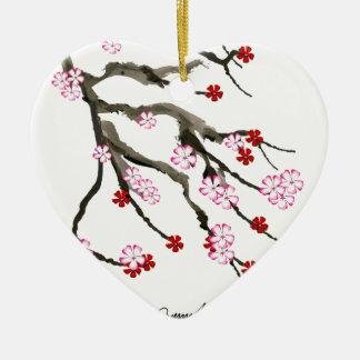 cherry blossom 10 Tony Fernandes Ceramic Heart Decoration
