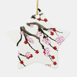 cherry blossom 10 Tony Fernandes Christmas Ornament