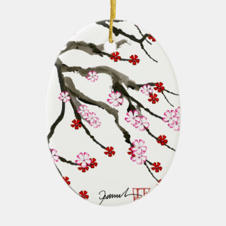 cherry blossom 10 Tony Fernandes Christmas Ornament
