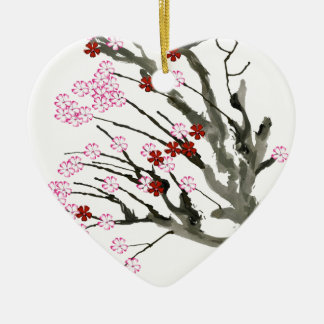 cherry blossom 11 Tony Fernandes Christmas Ornament